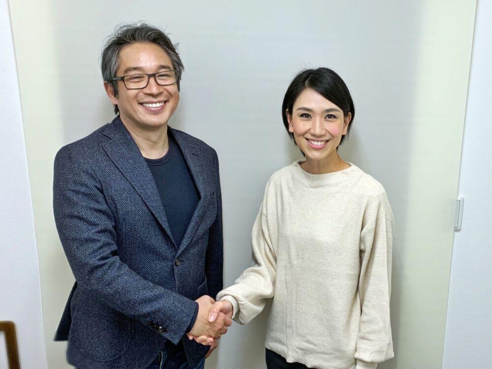 竹内代表と柴田桃子カウンセラー